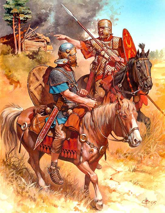 Римская конница времен битв при Кремоне