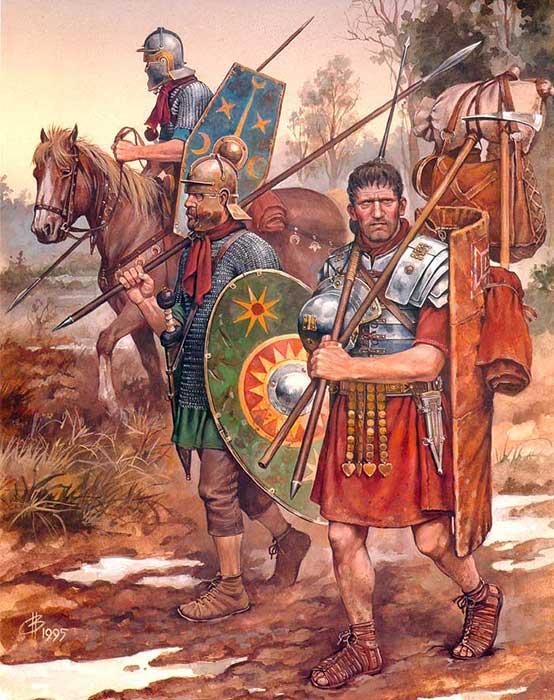 Римские воины времен битв при Кремоне