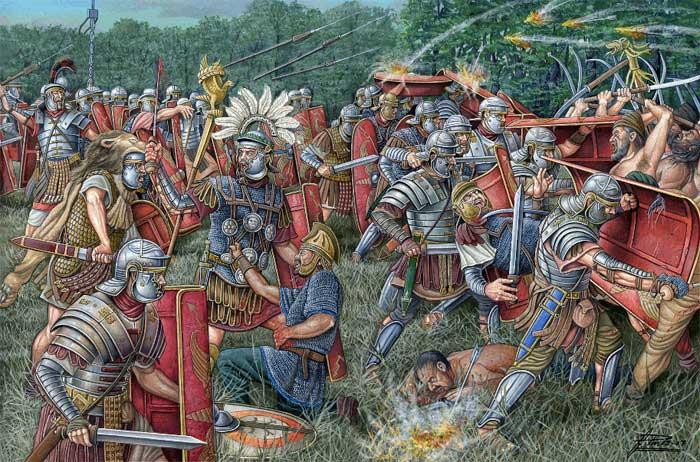 Легионеры сражаются с даками