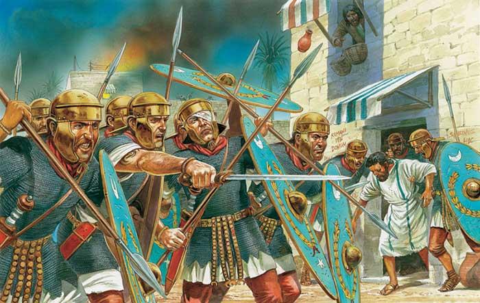 Римские вспомогательные когорты 1 в. в бою