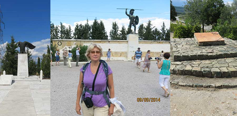 Современные памятники в Фермопилах
