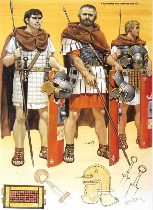 Легионеры времен Маркоманской войны