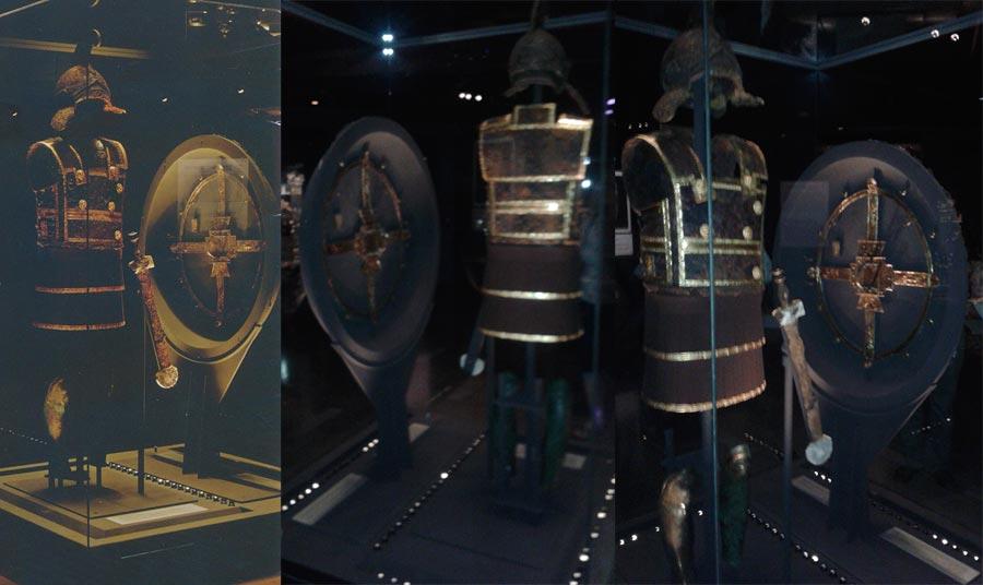 Шлем, доспех и щит Филиппа 2