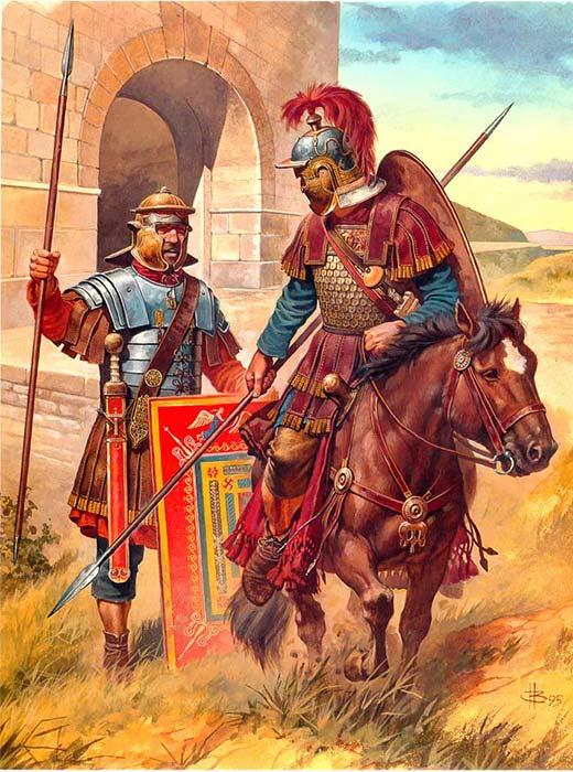 Легионер и всадник конец 2 начало 3 в.