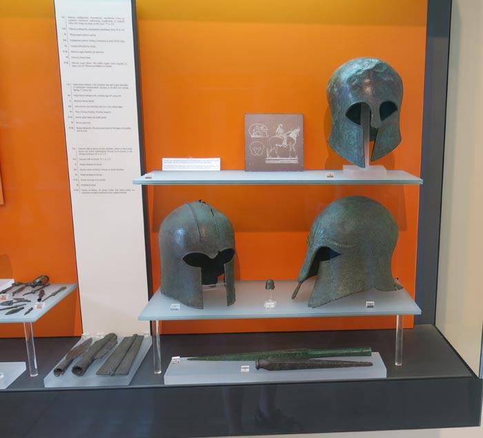 Шлемы гоплитов в Дельфах