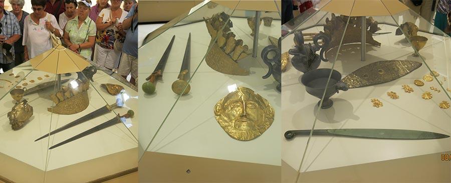 Архаичные мечи и маска Агамемнона