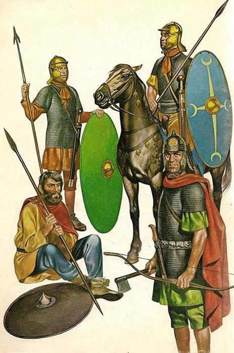 Воины вспомогательных когорт и нумерий