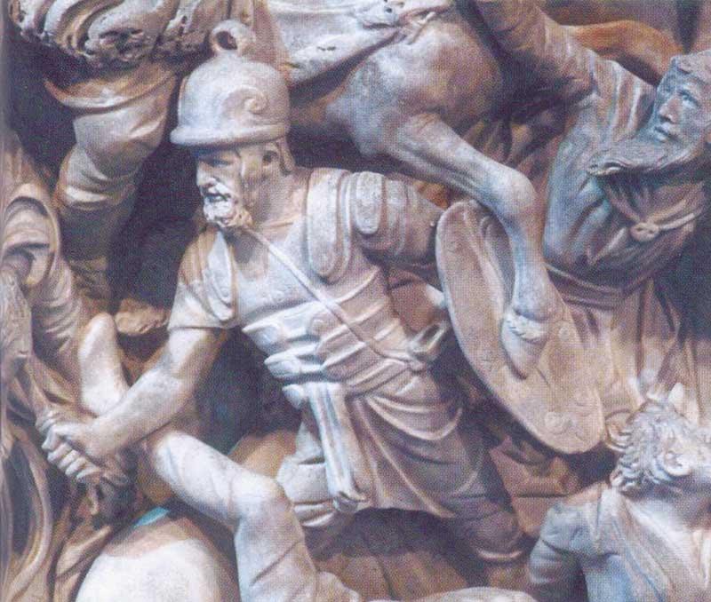 Римский воин в кожаных доспехах