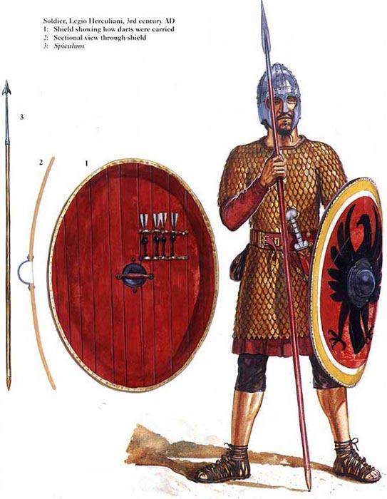 Легионер конца 3 в. с маттиобарбулами