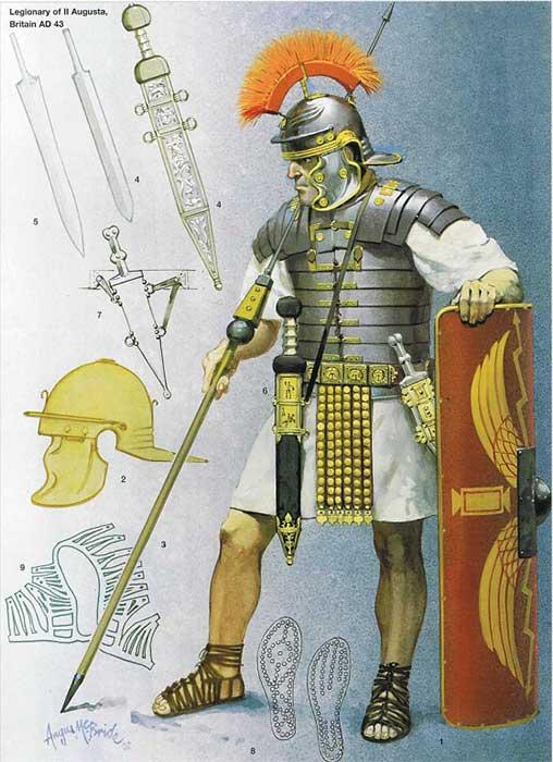 Вооружение легионера 1 века