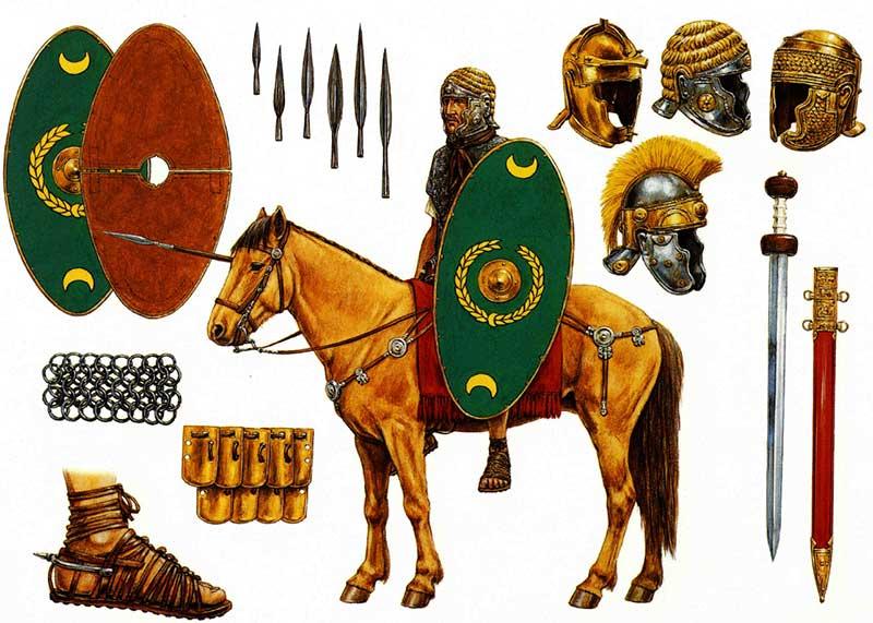 Вооружение римского всадника времен принципата