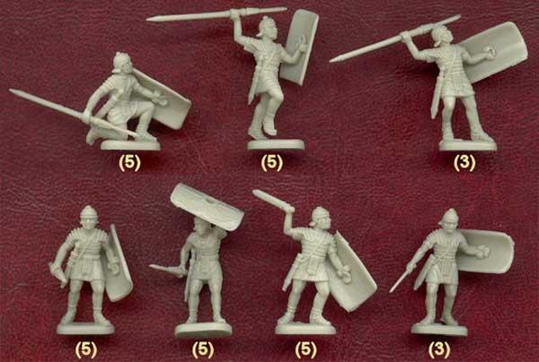Наборы солдатиков легионеров на 1-2 в.
