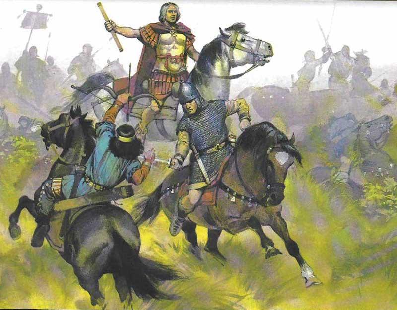 Аэций в битве на Каталаунских полях