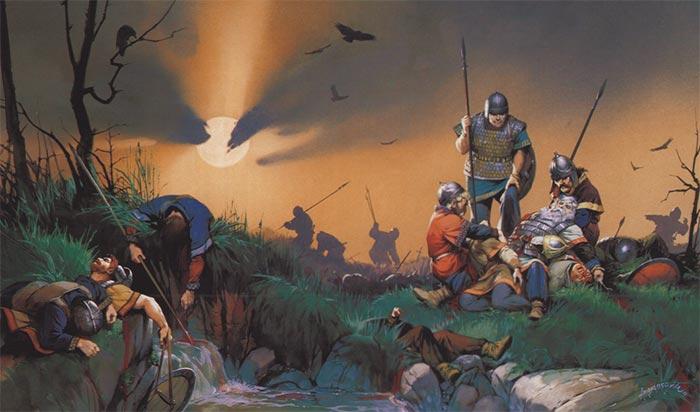 Смерть Теодориха на Каталаунских полях