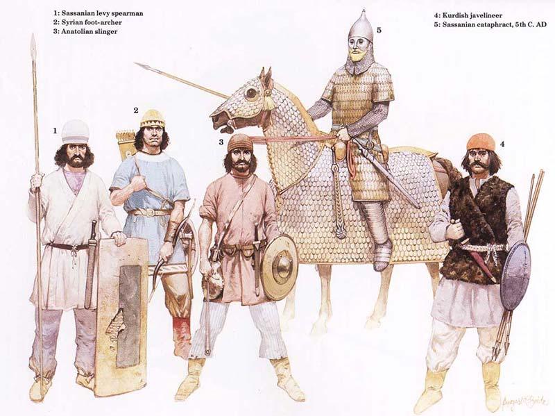 Армия персов сасанидов