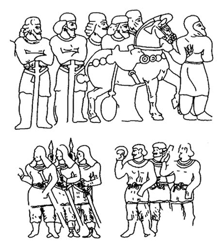 Пехота (или спешенная конница) сасанидов