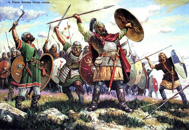 Готы в битве при Салиции