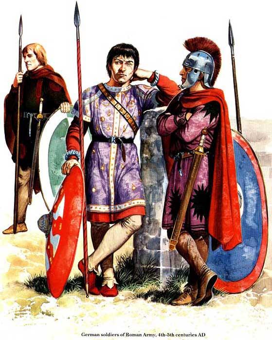 Германцы в римской армии поздней империи