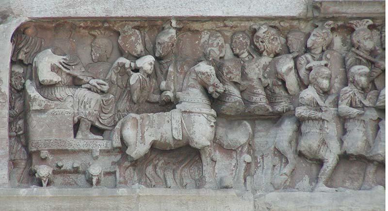 Армия Константина входит в Рим