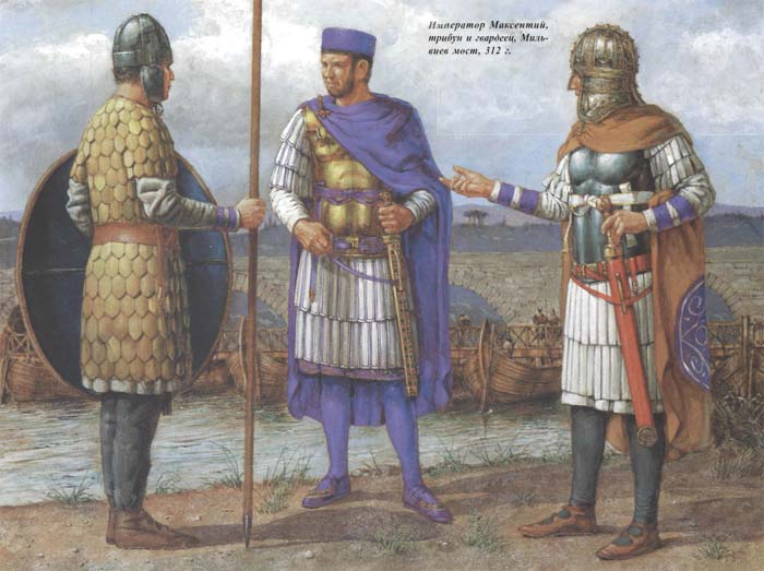 Максенций перед битвой у Мульвиева моста
