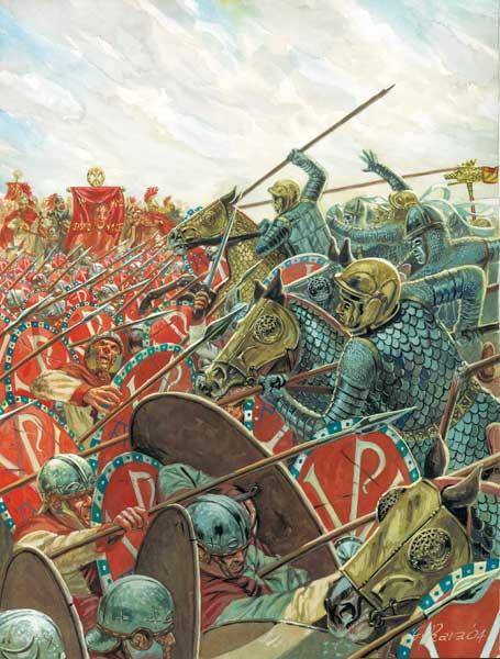 Клибанарии Максенция против пехоты Константина