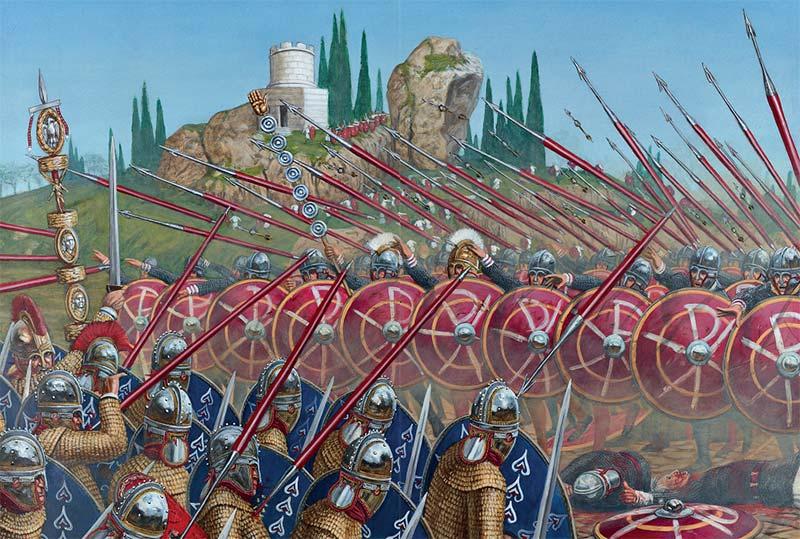Преторианская гвардия Максенция у Мульвиева моста