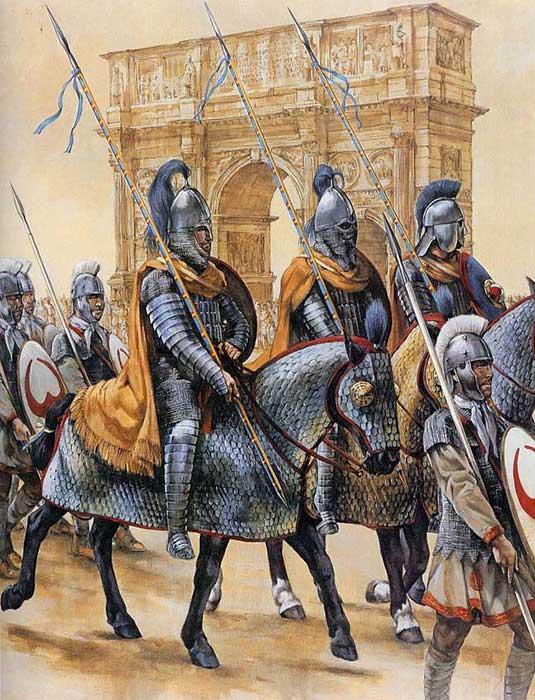 Клибанарии на параде Констанция в Риме
