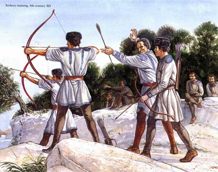 Римская легкая пехота в паннонских шапках