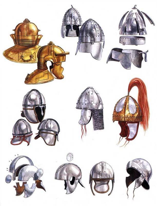 Римские шлемы поздней империи