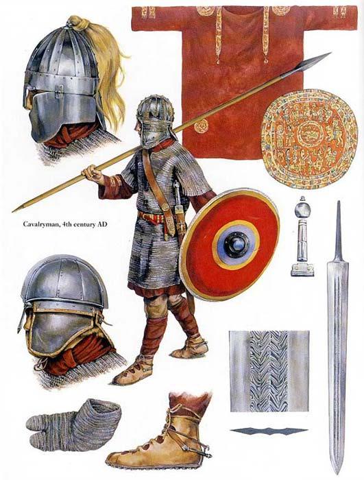 Вооружение римского всадника поздней империи