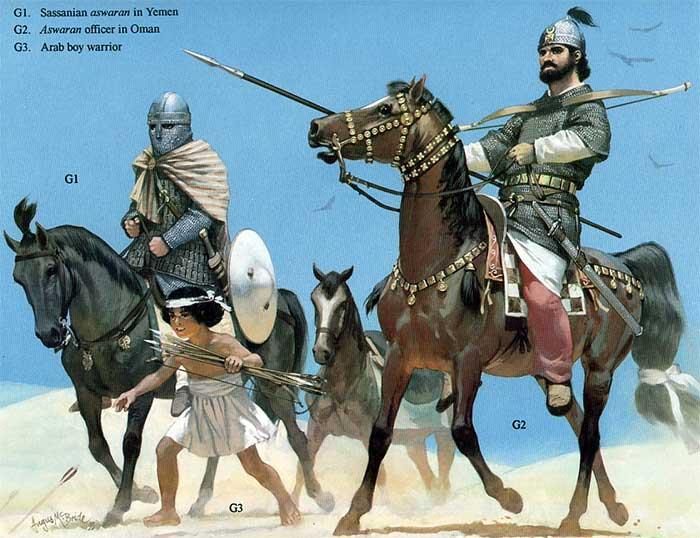 Персы сасаниды 6 в.