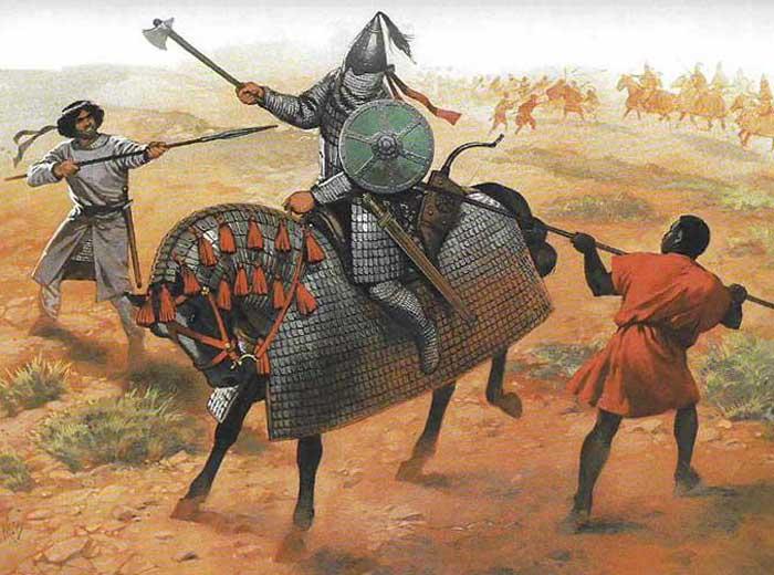 Катафракт сасанидов против арабов