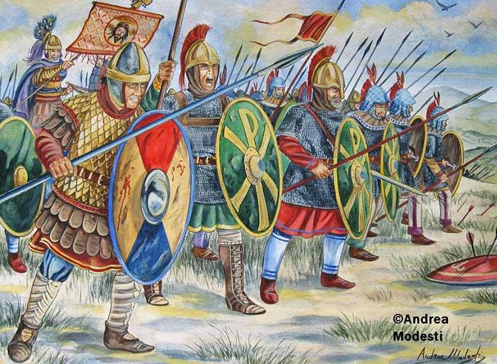 Византийская пехота 6 в.
