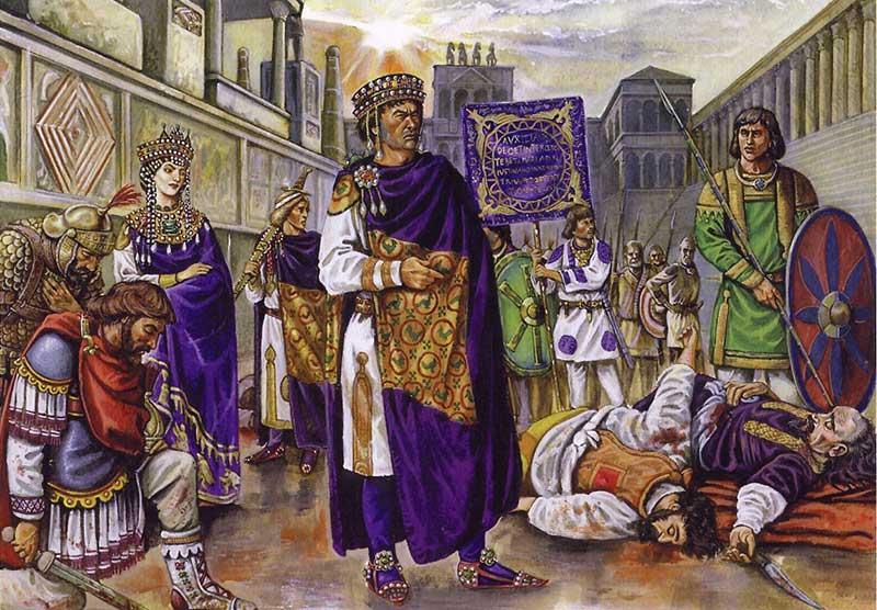 Юстиниан, Феодора, Велизарий и Мунд
