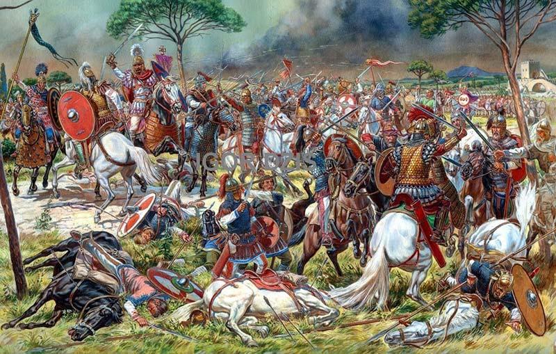 Велизарий в битве у Саларийских ворот