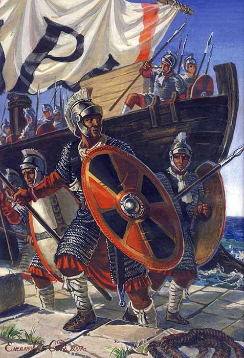 Высадка византийской армии
