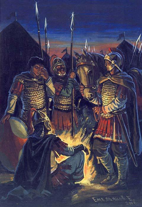 Византийцы перед битвой