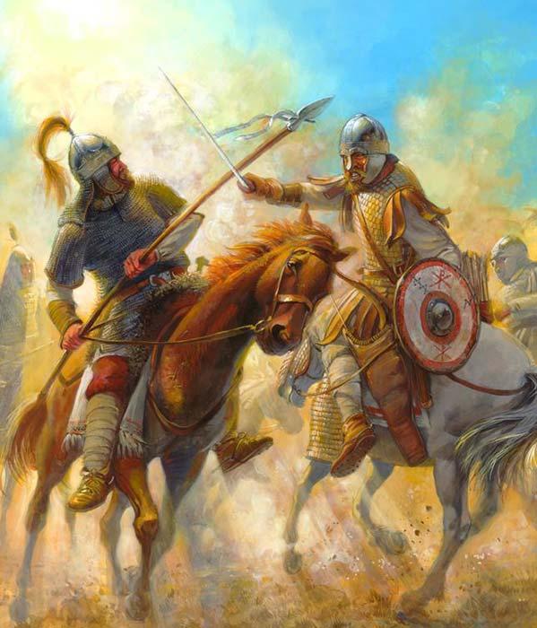 Гот против византийца, 6 в.