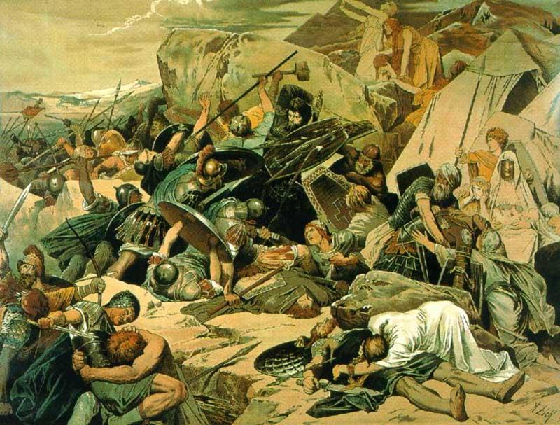 Король готов Тейя в битве при Везувии