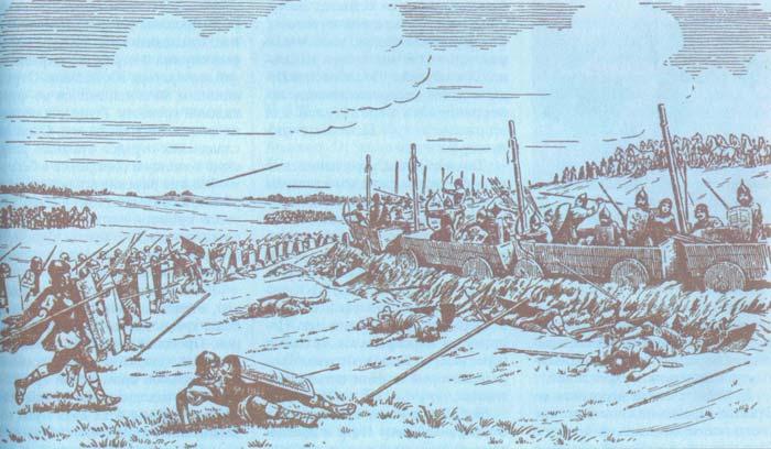 византийцы штурмуют укрепление славян