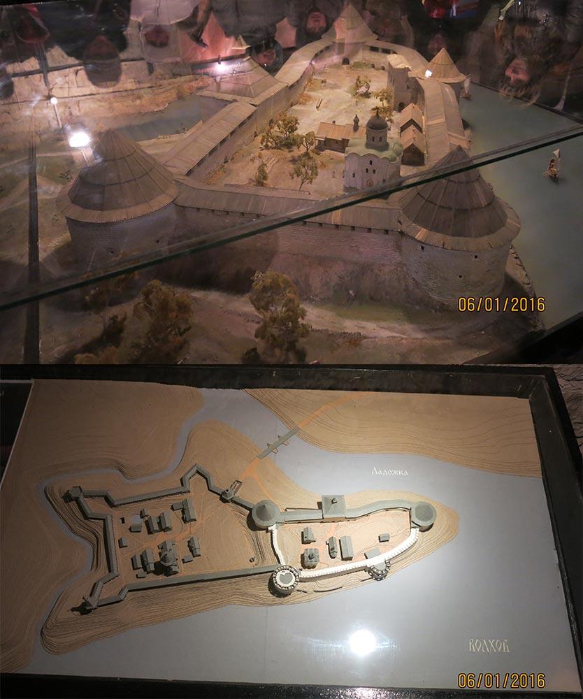 Макеты Староладожской крепости