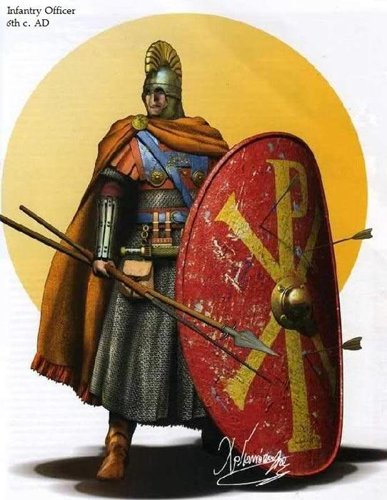Пехотный офицер византийской армии 6 в.