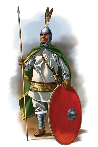 Византийский воин гвардейских отрядов