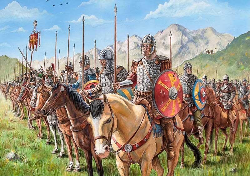 Конная византийская фаланга 6 в.