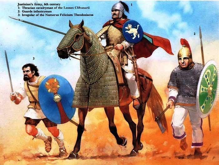 Воины армии Юстиниана