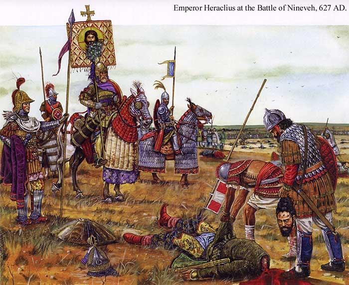 Тяжелая византийская конница императора Ираклия