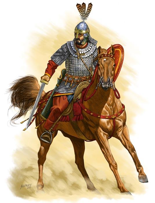 Византийский букелларий, 6 в.