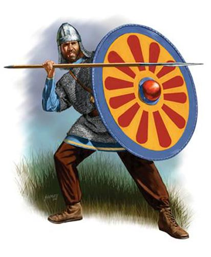 Византийский пехотинец 6 в.