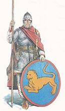 Византийский пехотинец 5-6 в.