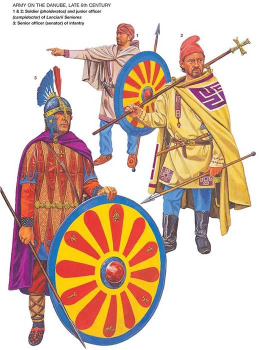 Византийские пехотинцы 6 в.